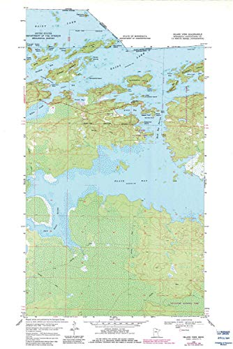(YellowMaps Island View MN topo map, 1:24000 Scale, 7.5 X 7.5 Minute, Historical, 1969, Updated 1983, 27.23 x 21.53 in - Paper)