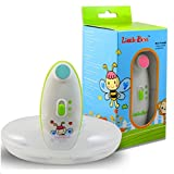 ABOGALE Electric Baby Nail Trimmer Safe for 0-12 Month Babies Battery Operated Nail Scissors With Two Speed Options and Four Pads Depending on the Baby's Age