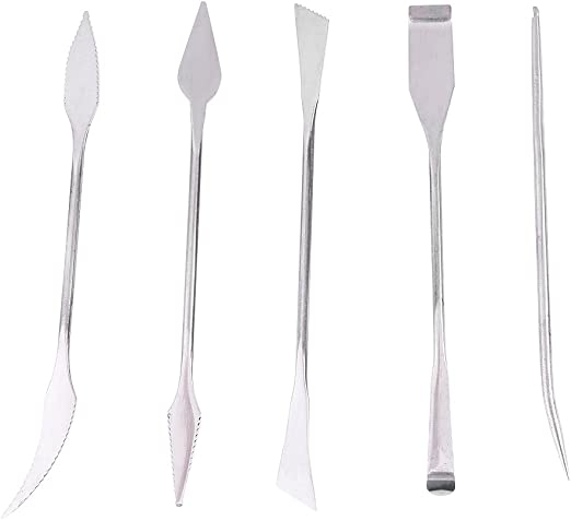 Stainless Steel Wax Carvers Tools Carving Tool 6 Piece Spatula Double Ended Phenomenal Multi Colored Set All Pieces Double Ended Jewelry 6pc Wax Kit Natural Mystic USA Brand