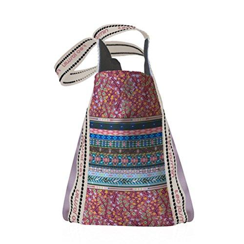 Piccolo sacchetto Shopper Jasmine Hmong con Champagne Teo Jasmin