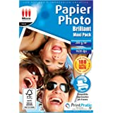 Micro application 5248 Maxi pack Papier Photo Brillant 10 x 15 200 g/m² 180 feuilles