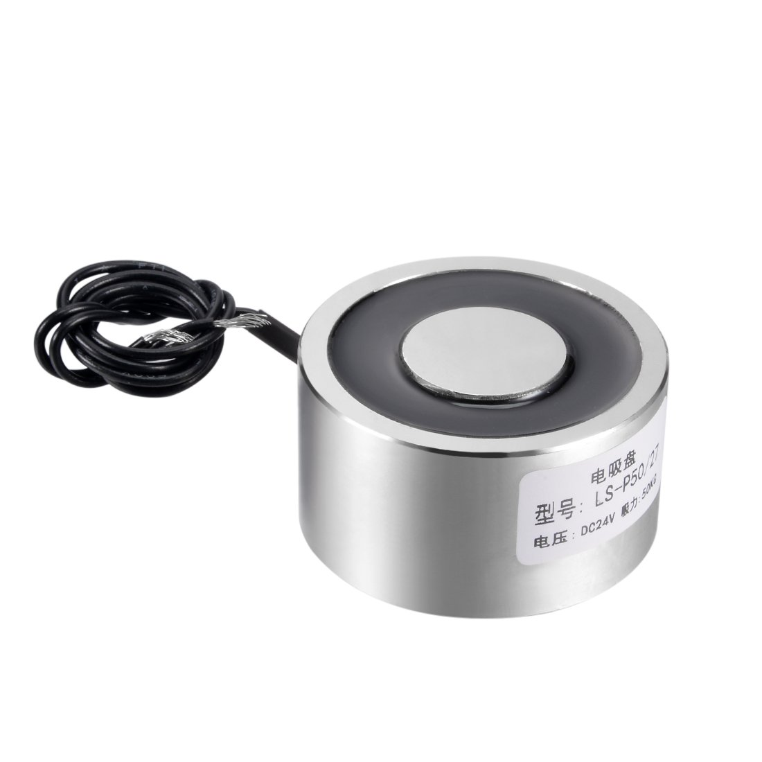 uxcell 50mm x 27mm DC24V 0.34A 8.16W 500N Sucking Disc Solenoid Lift Holding Electromagnet