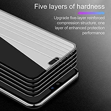 Color : Black GUOSHU Premium Tempered Glass Screen Film 25 PCS Scratchproof 11D HD Full Glue Full Curved Screen Tempered Glass Film for Oppo A5 // A3s // Realme 2 Black Anti-Scratch Screen Protector