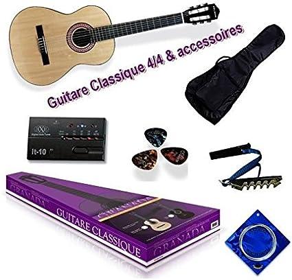 Delson packgranada2 Granada Pack de Guitarra Clásica, negro: Amazon.es: Instrumentos musicales