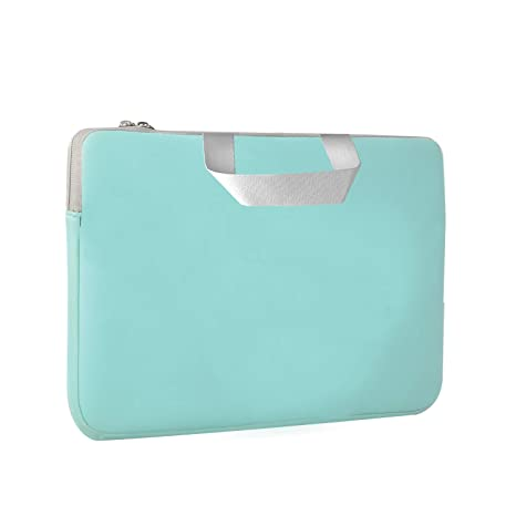 Chromebook Case, HESTECH 14-15.6 Neoprene Laptop Sleeve with Handle for 15-15.6 Inch HP Dell Asus Acer Thinkpad Samsung Laptops Lenovo Yoga,Mint Green