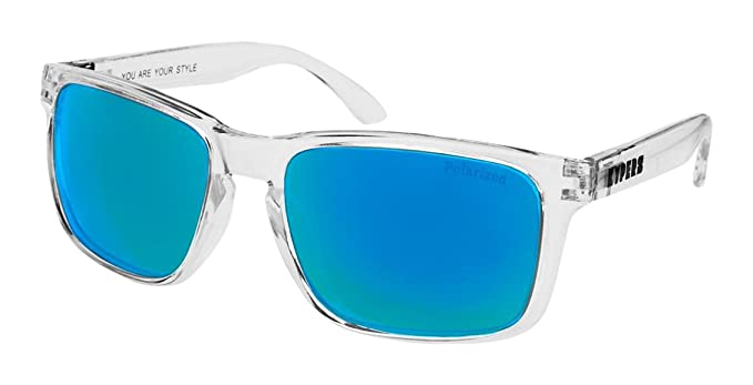 KYPERS Coconut Gafas de Sol, Clear - Ice Blue Mirror, 57 Unisex