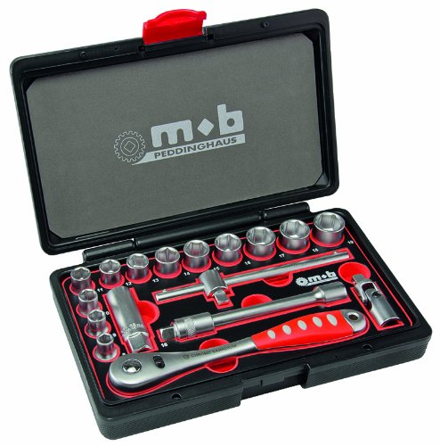 3 opinioni per Peddinghaus 9017000000- Set chiavi a tubo 3/8, 17 pezzi, colore: Rosso/Nero