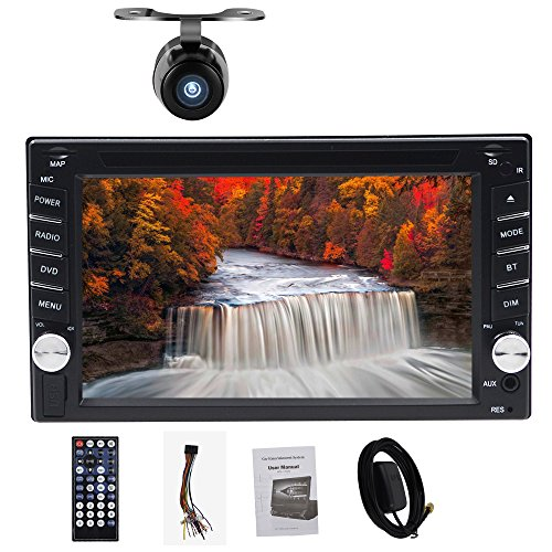 Navigation Seller   Privileged Sale Universal Car Stereo Dvd Player 6 2  Double Din In Dash Gps Navigation Support Steering Wheel Control With Digital Capacitive Touch Screen   Free Backup Camera