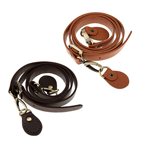 body Strap Bag Replacement Handle Leather Homyl Cowhide Handbag Cross 2Pc Shoulder qtwWa01