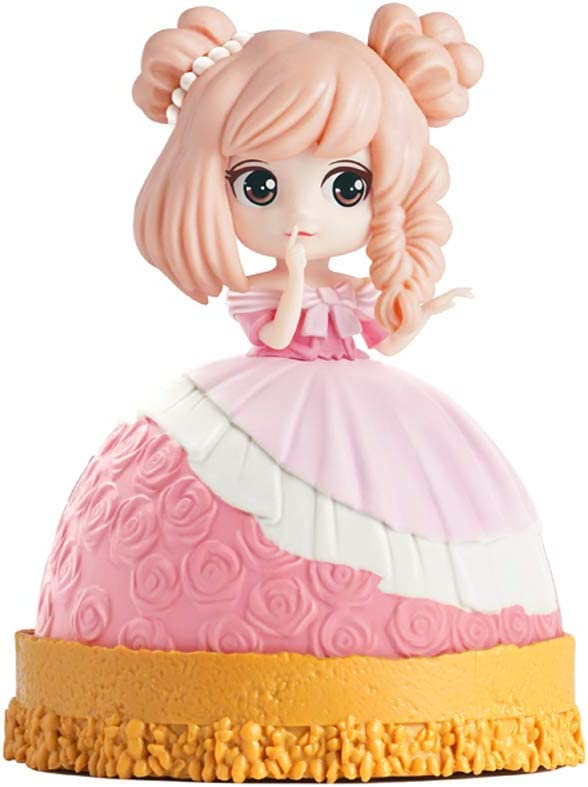 Astrau Gormet 10pcs Baibie Doll Cake Toppers Princess Toy Cartoon Figures Toys Dolls for Cake Cupcake Decorations Random Hair Color Barbie Doll DIY Making