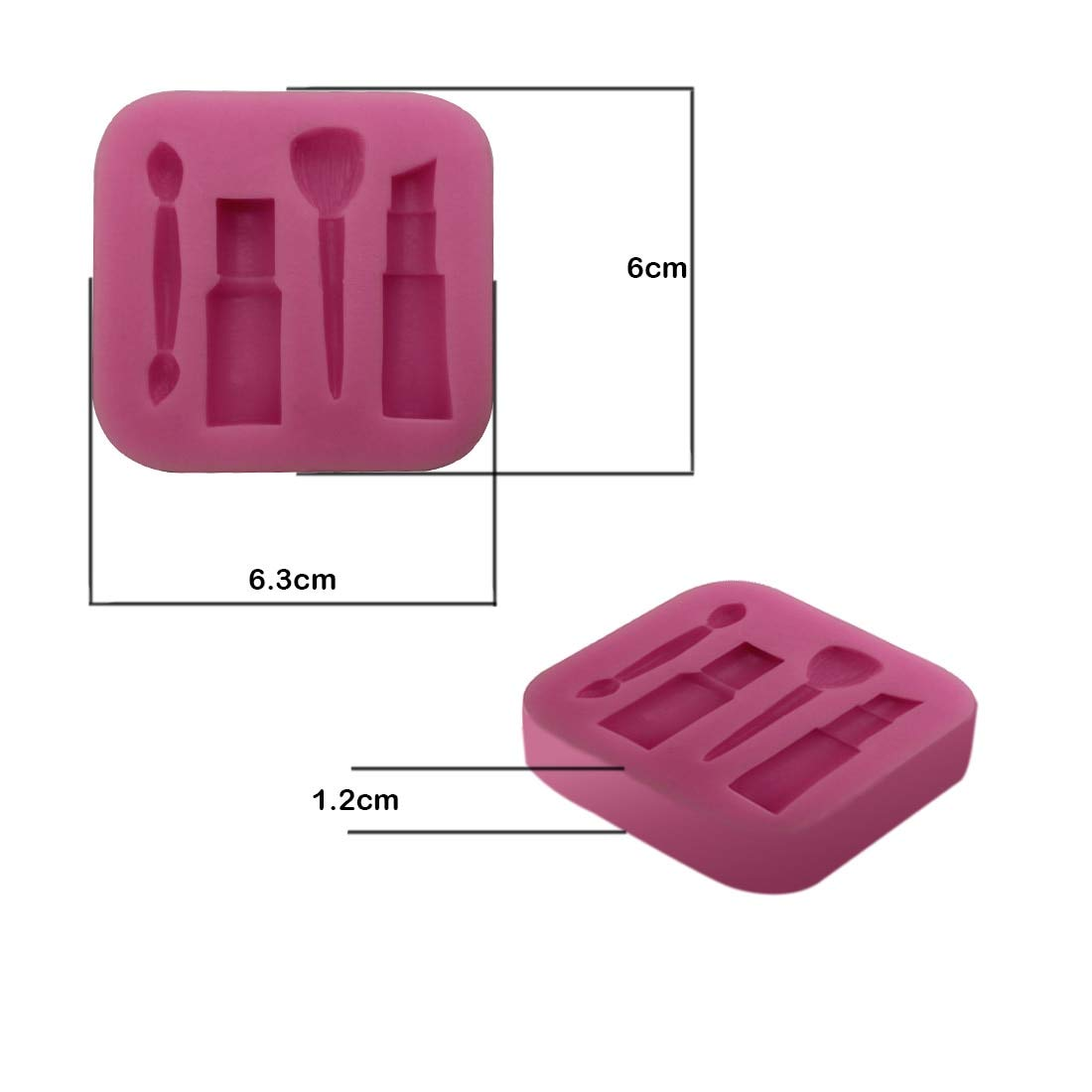 1 piece Creative Silicone Grape Strawberry Lipstick DIY Soap Fondant Sugarcraft Mold Mould Candy Chocolate Cake Decorating Tools Random