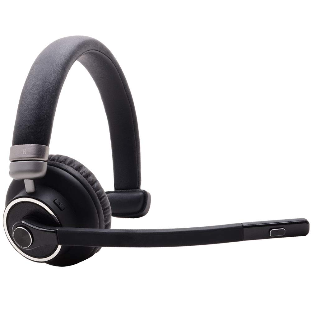 Bluetooth Headset with Microphone,Willful M91 Wireless Headset with Noise Cancelling Sound,Comfortable Extra Cushion, Strong BT Signal,Mute Button,Cell Phone Headset for Office Trucker Drivers