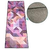 ZAPITA Anti-Slip Hot Yoga Towel | 2-Layer Composite & Silicone Dots | Wrinkle Resistance, Anti-Bacterial, Foldable | for Bikram, Vinyasa, Pilates, Fitness, Travel | 72'x27'