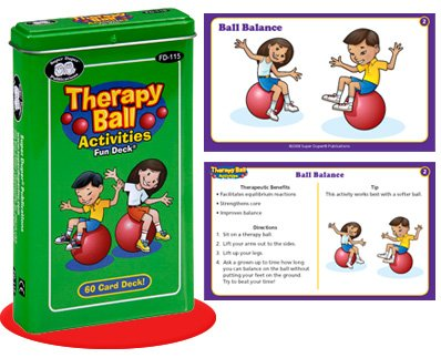 (Super Duper Publications Therapy Ball Activities Fun Deck Flash Cards Educational Learning Resource for Children)