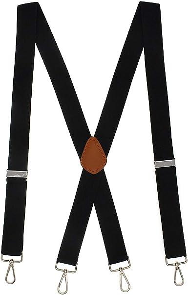 Suspenders for Men Adjustable Mens Suspenders with Hooks Heavy Duty Big and Tall Braces Groomsmen