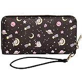 Pusheen The Cat Pusheenicorn Constellation Stars Zippered Wristlet Wallet, Grey, One Size