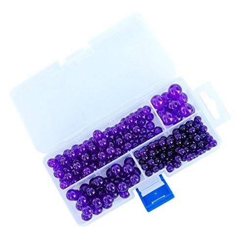 Natural Purple Chalcedony Gemstone Round Loose Beads Round Energy Stone Healing Power for Jewelry Bracelet Necklace DIY - Chalcedony Gemstones Round