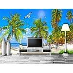 Carta Da Parati 3D Fotomurali Albero Di Cocco Del Gabbiano Della Spiaggia Di Vista Sul Mare Del Mare Camera da Letto… 51%2B318G5I8L. SS150