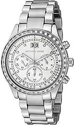Michael Kors Brinkley Silver Dial SS Chronograph Quartz Ladies Watch MK6186
