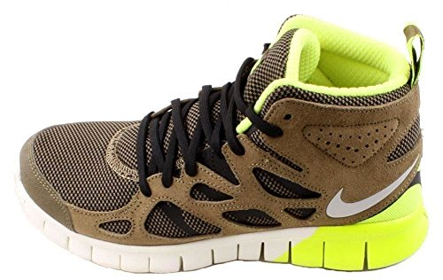 ccc0459e70ba Nike Mens Free Run 2 Sneakerboot Light Umber Dusty Grey-Blk-Volt ...