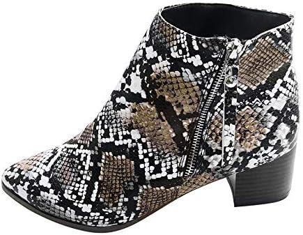 [해외]Aniywn Womens Ankle Boots Ladies Casual Pointed Toe Side Zipper Chunky Heel Short Booties Vintage Shoes Brown / Aniywn Womens Ankle Boots Ladies Casual Pointed Toe Side Zipper Chunky Heel Short Booties Vintage Shoes Brown