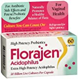 Florajen Acidophilus Dietary Supplement - 60 Capsules, Pack of 6