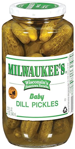 Milwaukee's Pickles, Baby Dills, 32 Ounce (Pack of 12)