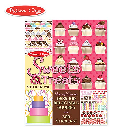 Melissa & Doug Sweets and Treats Sticker Pad - 500 Stickers, 16 Backgrounds -