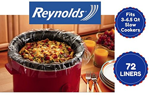 Reynolds Slow Cooker Liners Value Bulk Pack 72 Ct Fast And Easy Cleanup For All Crock Pot Cooking 72 Pack