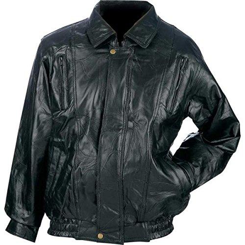 Mosaic Leather (Maxam? Brand Italian Mosaic? Design Genuine Top Grain Lambskin Leather Jacket, Black,)