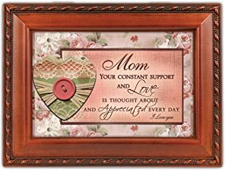 Mom Cottage Garden Woodgrain Traditional Music Box Plays You Light Up My Life by Cottage Garden