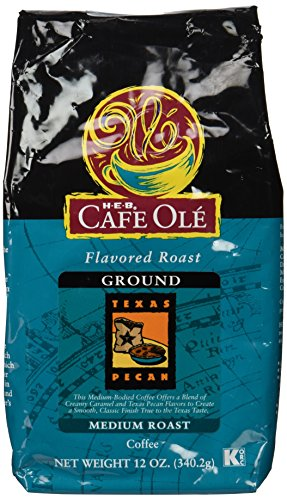 Cafe Ole Flavored Roast Texas Pecan Ground Coffee 12 Oz. (Pack of 3) (Pecan Flavored Coffee)