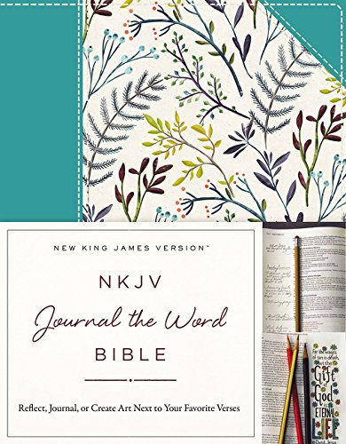 NKJV, Journal the Word Bible, Cloth over Board, Blue Floral, Red Letter Edition: Reflect, Journal, or Create Art Next to Your Favorite Verses ebook