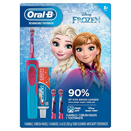 Oral-B Kids Rechargeable Electric Toothbrush - Frozen (Oral B Toothbrush Princesses)