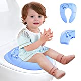 Iserlohn Folding Travel Potty Seat for Kids with Carry Bag, Blue
