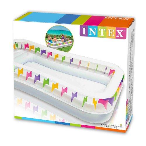 Intex piscina hinchable family lounge 295 x 175 x 53 cm - Amazon piscinas hinchables ...