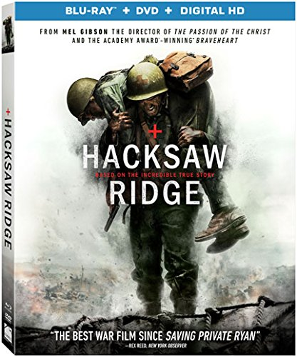 Hacksaw Ridge Blu ray DVD Digital product image