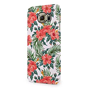 Tropical Hawaii Flowers Floral Aloha Hipster Exotic Chevron Pattern Hard Plastic Samsung Galaxy S6 Phone Case Cover
