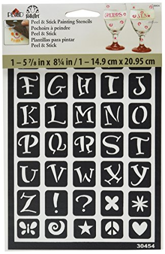 FolkArt Peel and Stick Painting Stencil, 30454 Fun Alphabet