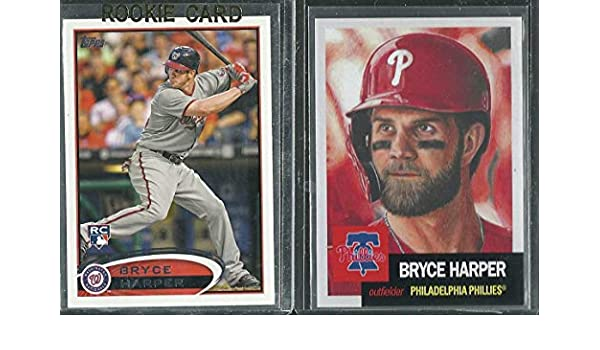 2012 Topps 661 Bryce Harper Rookie Card 2019 Topps Living