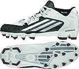 adidas Men's Crazyquick 2.0 Mid Football Cleats, S83666 (12 M US, White/Platinum/Black)