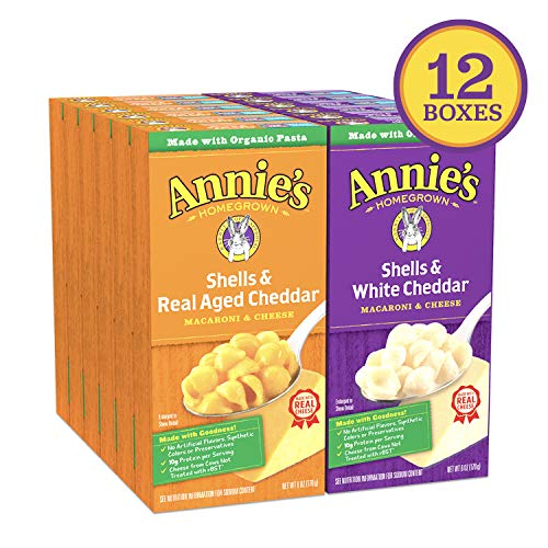 12 Boxes - Annie's Shells Macaroni and Cheese Now $9.19 (Was $22.99)