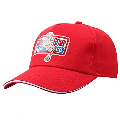 Forest Gump Red Baseball Cap Shrimp Embroidered Hat Cosplay Costumes -