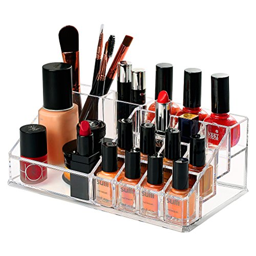 Cosmetic Organizer Transparent Material Compartments product image