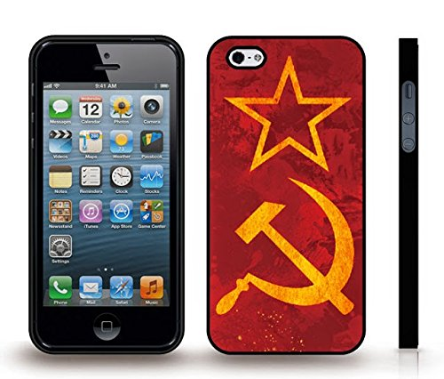 iStar Cases® iPhone 4 Case with Soviet Russian Flag , Snap-on Cover, Hard Carrying Case (Black)