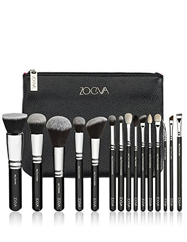 ZOEVA Brushes Makeup Cosmetics Brush Tool Complete Set set of 15 Pennelli Makeup brushes Face Eye Brushes Kit Blending Makeup Brushes set Complete Eye Set Bag by ZOEVA