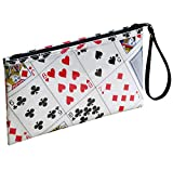 Large Wristlet Made From Real Playing Cards Prime gift idea for bridge player poker addicts bag for magician costume case magic tricks play card solitaire fan small ladies women's clutch bag purse