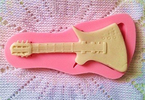 Cosanter La Mini Guitarra de DIY Form/ó los Instrumentos Musicales Moldea los Moldes del Hielo del Molde del Silic/ón Molde de la Torta del Molde