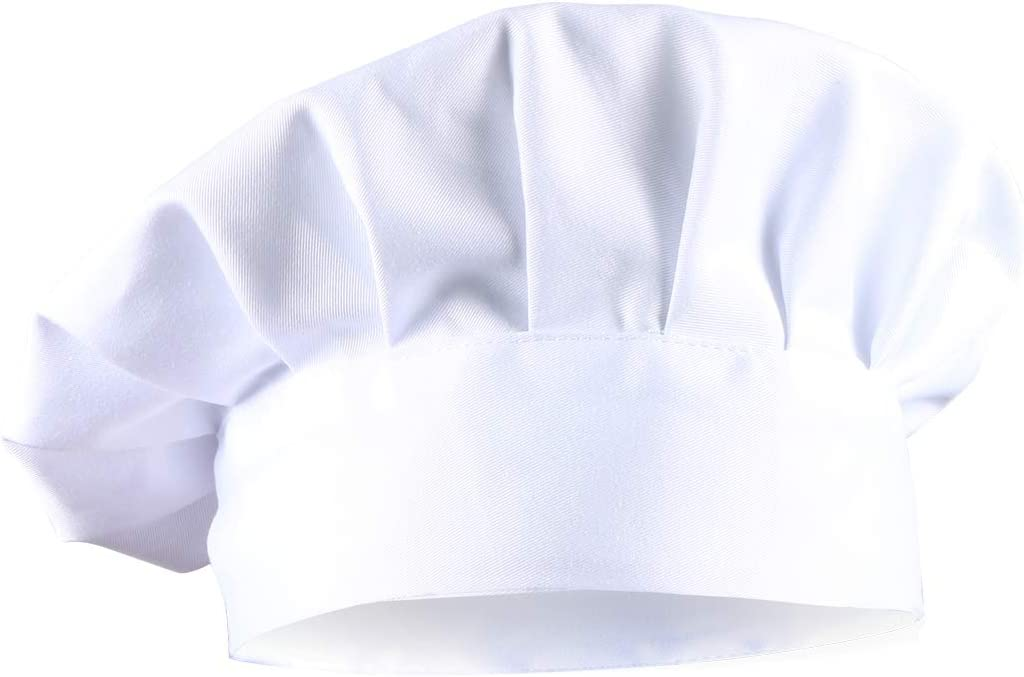 Dadoudou Chef Hat Tube Sharp with Adjustable Size for Adult/Kids