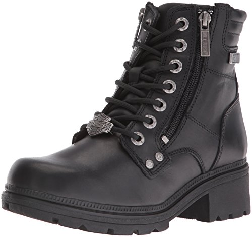 Harley-Davidson Women's Inman Mills Motorcycle Boot, Black, 9 M US